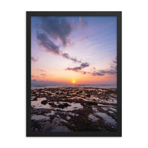 BALI BEACH SUNSET Posters 18in x 24in (45cm x 61cm) / Framed - Thibault Abraham