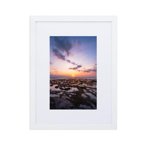 BALI BEACH SUNSET Posters 12in x 18in (30cm x 45cm) / Europe only - White frame with mat - Thibault Abraham