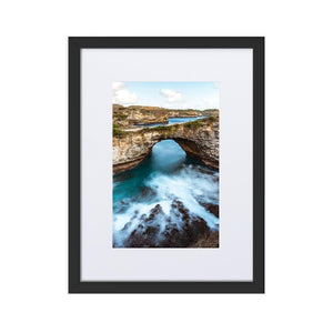 BROKEN BEACH Prints 12in x 18in (30cm x 45cm) / Europe only - Black frame with mat - Thibault Abraham