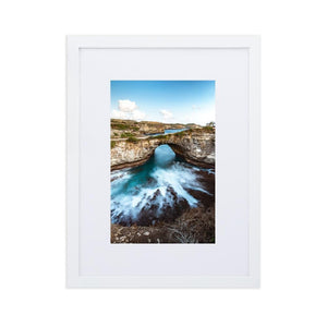 BROKEN BEACH Prints 12in x 18in (30cm x 45cm) / Europe only - White frame with mat - Thibault Abraham