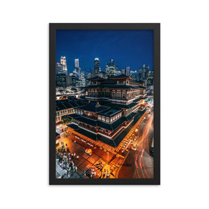 BUDDHA TOOTH RELIGIOUS TEMPLE Posters 12in x 18in (30cm x 45cm) / Framed - Thibault Abraham