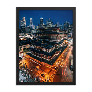 BUDDHA TOOTH RELIGIOUS TEMPLE Posters 18in x 24in (45cm x 61cm) / Framed - Thibault Abraham