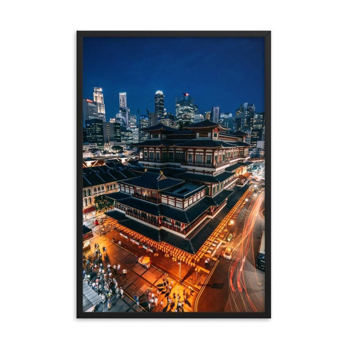 BUDDHA TOOTH RELIC TEMPLE Affiches 24in x 36in (61cm x 91cm) / Encadré - Thibault Abraham
