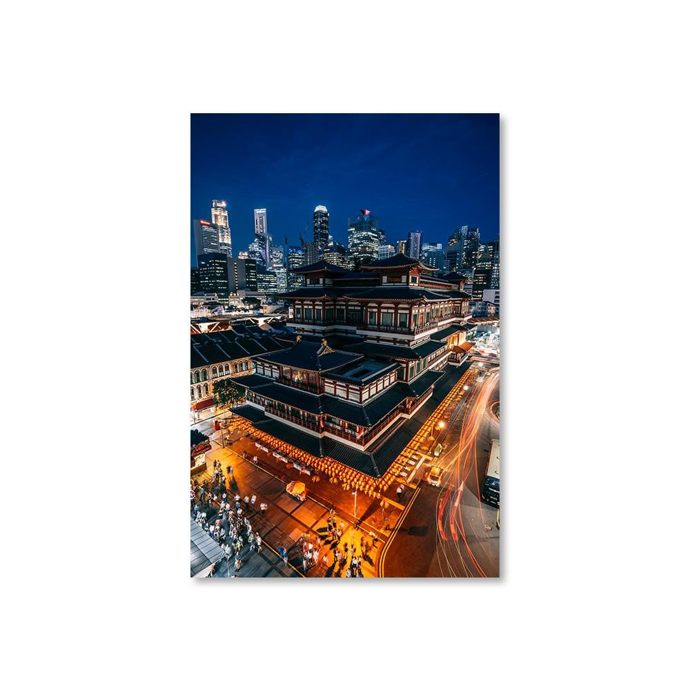 BUDDHA TOOTH RELIC TEMPLE Affiches 12in x 18in (30cm x 45cm) / Non encadré - Thibault Abraham