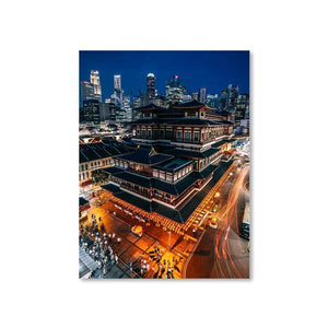 BUDDHA TOOTH RELIC TEMPLE Affiches 18in x 24in (45cm x 61cm) / Non encadré - Thibault Abraham