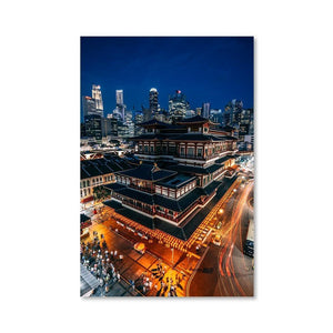 BUDDHA TOOTH RELIC TEMPLE Affiches 24in x 36in (61cm x 91cm) / Non encadré - Thibault Abraham