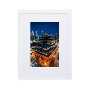 BUDDHA TOOTH RELIC TEMPLE Prints 12in x 18in (30cm x 45cm) / Europe only - White frame with mat - Thibault Abraham