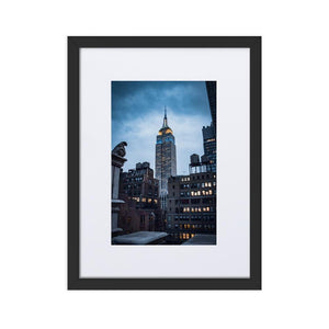 EMPIRE STATE Prints 12in x 18in (30cm x 45cm) / Europe only - Black frame with mat - Thibault Abraham