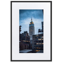 Upload image to gallery, EMPIRE STATE Posters 24in x 36in (61cm x 91cm) / Europe only - Black framed with mat - Thibault Abraham