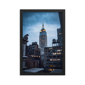 EMPIRE STATE Prints 12in x 18in (30cm x 45cm) / Framed - Thibault Abraham