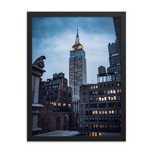 EMPIRE STATE Prints 18in x 24in (45cm x 61cm) / Framed - Thibault Abraham