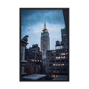 EMPIRE STATE Prints 24in x 36in (61cm x 91cm) / Framed - Thibault Abraham