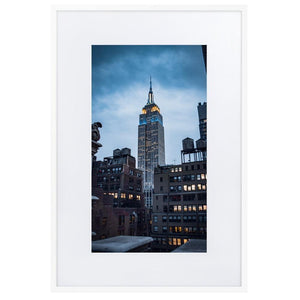 EMPIRE STATE Posters 24in x 36in (61cm x 91cm) / Europe only - White framed with mat - Thibault Abraham