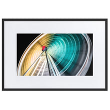 Load image in gallery, WHEEL OF BRISBANE Prints 39in x 24in (36cm x 61cm) / Europe only - Black frame with mat - Thibault Abraham