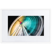 Load image in gallery, WHEEL OF BRISBANE Prints 39in x 24in (36cm x 61cm) / Europe only - White frame with mat - Thibault Abraham
