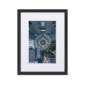 FOUNTAIN OF WEALTH Prints 12in x 18in (30cm x 45cm) / Europe only - Black frame with mat - Thibault Abraham
