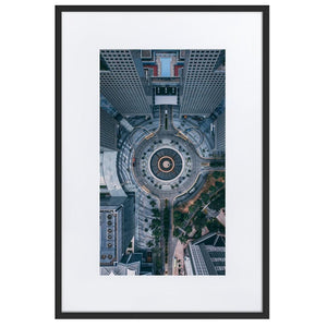 FOUNTAIN OF WEALTH Prints 24in x 36in (61cm x 91cm) / Europe only - Black frame with mat - Thibault Abraham