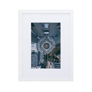 FOUNTAIN OF WEALTH Prints 12in x 18in (30cm x 45cm) / Europe only - White frame with mat - Thibault Abraham