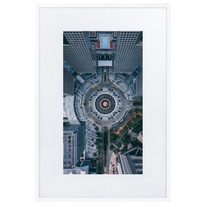 FOUNTAIN OF WEALTH Prints 24in x 36in (61cm x 91cm) / Europe only - White frame with mat - Thibault Abraham