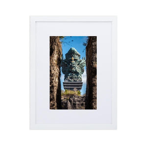 GARUDA WISNU Prints 12in x 18in (30cm x 45cm) / Europe only - White frame with mat - Thibault Abraham
