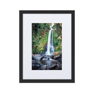 GITGIT WATERFALL Posters 12in x 18in (30cm x 45cm) / Europe only - Black box with mat - Thibault Abraham
