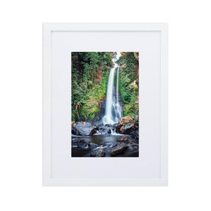 GITGIT WATERFALL Posters 12in x 18in (30cm x 45cm) / Europe only - White framed with mat - Thibault Abraham