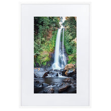 Load image in gallery, GITGIT WATERFALL Prints 39in x 24in (36cm x 61cm) / Europe only - White frame with mat - Thibault Abraham