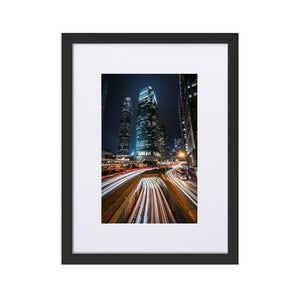 HYPERSPEED Prints 12in x 18in (30cm x 45cm) / Europe only - Black frame with mat - Thibault Abraham