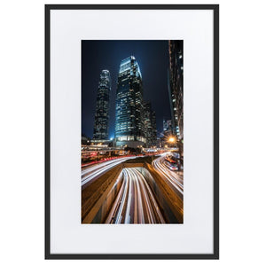 HYPERSPEED Prints 24in x 36in (61cm x 91cm) / Europe only - Black frame with mat - Thibault Abraham