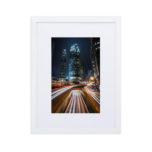 HYPERSPEED Posters 12in x 18in (30cm x 45cm) / Europe only - White box with mat - Thibault Abraham