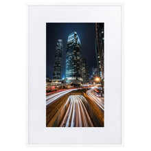 Load image in gallery, HYPERSPEED Prints 39in x 24in (36cm x 61cm) / Europe only - White frame with mat - Thibault Abraham