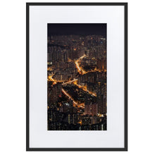 Load image in gallery, LION ROCK HILLS Prints 39in x 24in (36cm x 61cm) / Europe only - Black frame with mat - Thibault Abraham