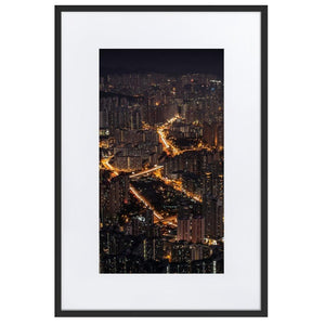 LION ROCK HILLS Posters 24in x 36in (61cm x 91cm) / Europe only - Black framed with mat - Thibault Abraham