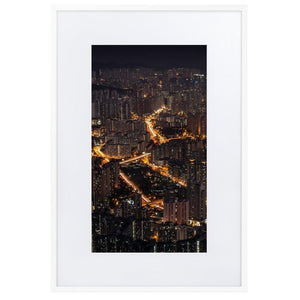 LION ROCK HILLS Prints 24in x 36in (61cm x 91cm) / Europe only - White frame with mat - Thibault Abraham