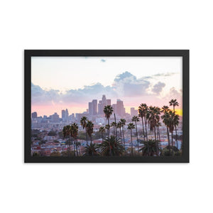 LOS ANGELES SUNSET Affiches 12in x 18in (30cm x 45cm) / Encadré - Thibault Abraham