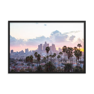 LOS ANGELES SUNSET Affiches 24in x 36in (61cm x 91cm) / Encadré - Thibault Abraham