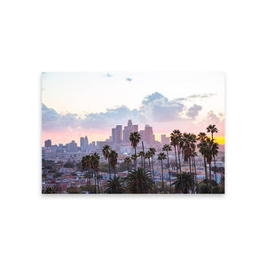 LOS ANGELES SUNSET Affiches 12in x 18in (30cm x 45cm) / Non encadré - Thibault Abraham