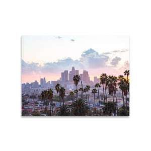 LOS ANGELES SUNSET Affiches 18in x 24in (45cm x 61cm) / Non encadré - Thibault Abraham