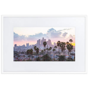 LOS ANGELES SUNSET Prints 24in x 36in (61cm x 91cm) / Europe only - White frame with mat - Thibault Abraham