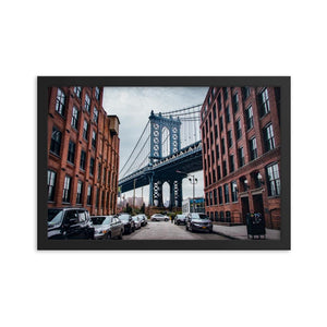 MANHATTAN BRIDGE Prints 12in x 18in (30cm x 45cm) / Framed - Thibault Abraham