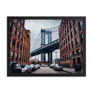 MANHATTAN BRIDGE Prints 18in x 24in (45cm x 61cm) / Framed - Thibault Abraham