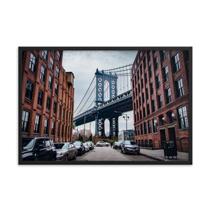 MANHATTAN BRIDGE Prints 24in x 36in (61cm x 91cm) / Framed - Thibault Abraham