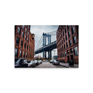 MANHATTAN BRIDGE Prints 12in x 18in (30cm x 45cm) / Unframed - Thibault Abraham