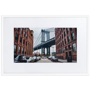MANHATTAN BRIDGE Posters 24in x 36in (61cm x 91cm) / Europe only - White framed with mat - Thibault Abraham