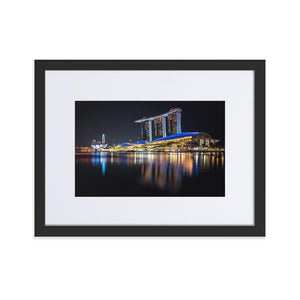 MARINA BAY SANDS Posters 12in x 18in (30cm x 45cm) / Europe only - Black framed with mat - Thibault Abraham