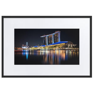 MARINA BAY SANDS Posters 24in x 36in (61cm x 91cm) / Europe only - Black framed with mat - Thibault Abraham