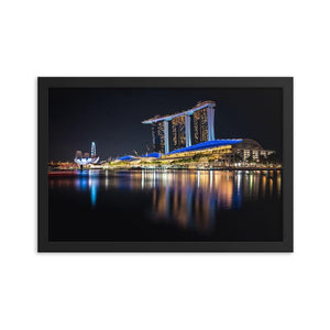 MARINA BAY SANDS Prints 12in x 18in (30cm x 45cm) / Framed - Thibault Abraham