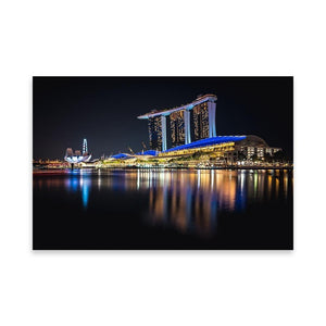 MARINA BAY SANDS Prints 24in x 36in (61cm x 91cm) / Unframed - Thibault Abraham