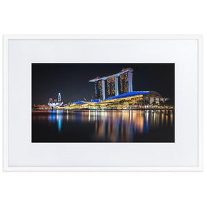 MARINA BAY SANDS Prints 24in x 36in (61cm x 91cm) / Europe only - White frame with mat - Thibault Abraham