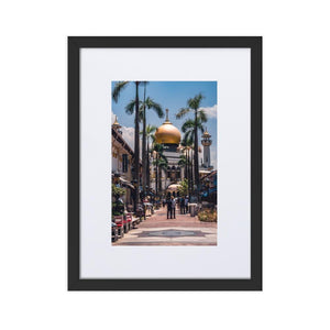 MASJID SULTAN Prints 12in x 18in (30cm x 45cm) / Europe only - Black frame with mat - Thibault Abraham